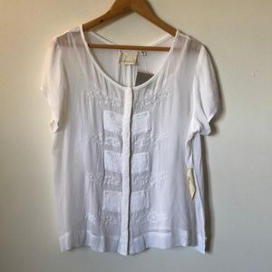 Anthropologie Button Down Blouse with Under Shirt